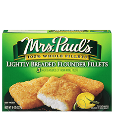 Lightly Breaded Flounder Fillets
