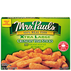 Xtra Large Crunchy Fish Sticks